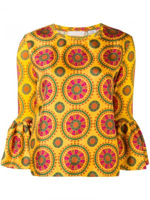 Блузка Gemini La Doublej. Цвет: желтый