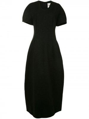 Платье с короткими рукавами Jil Sander. Цвет: черный
