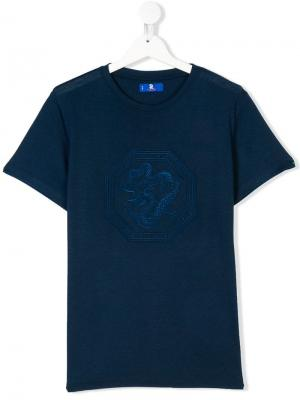 TEEN dragon embroidered T-shirt Stefano Ricci Kids. Цвет: синий