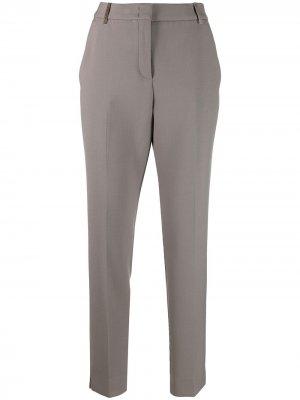 Прямые брюки строгого кроя Peserico. Цвет: серый