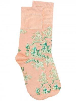 Носки с принтом Simone Rocha. Цвет: розовый