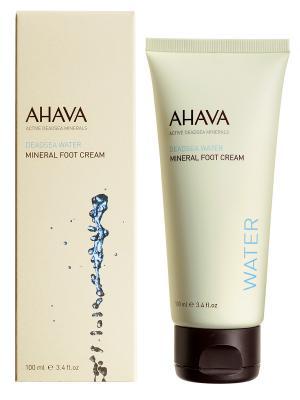 Крем для ног минеральный AHAVA. Цвет: прозрачный