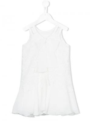 Кружевное платье Loredana. Цвет: белый