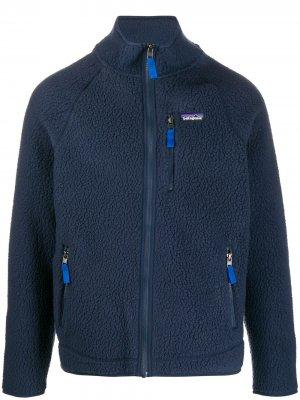 Куртка Retro Pile с нашивкой-логотипом Patagonia. Цвет: синий