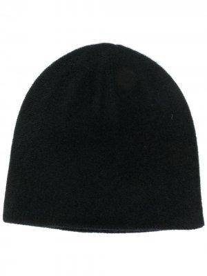 Двухслойная шапка бини N.Peal. Цвет: черный