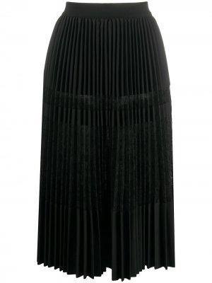 Плиссированная юбка миди By Malene Birger. Цвет: черный