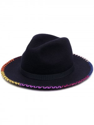 Шляпа трилби с плетеной отделкой Paul Smith. Цвет: синий