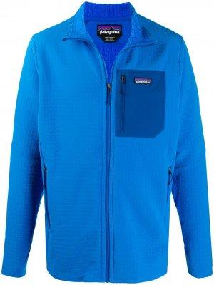 Спортивная куртка R2 TechFace Patagonia. Цвет: синий