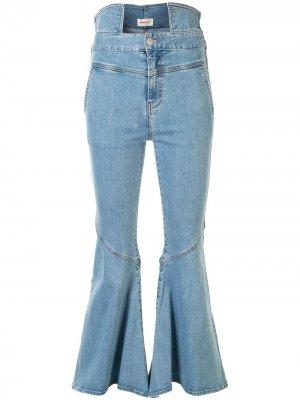 Расклешенные джинсы с завышенной талией PortsPURE. Цвет: синий