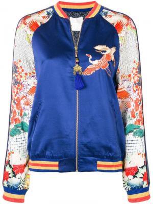 Embellished bomber jacket Camilla. Цвет: синий