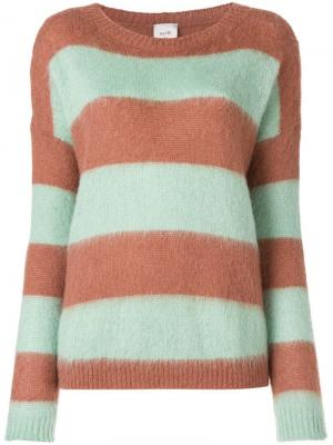 Striped jumper Alysi. Цвет: зеленый