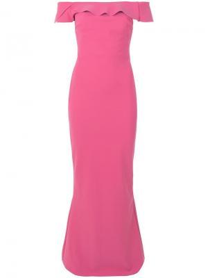 Клетчатое платье-рубашка Le Petite Robe Di Chiara Boni. Цвет: розовый