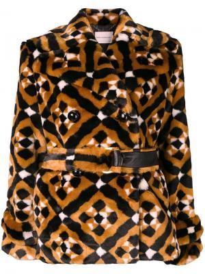Пальто Oates с геометрическим узором Mary Katrantzou. Цвет: коричневый