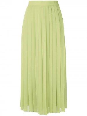 Плиссированная юбка миди Magda The Row. Цвет: зеленый