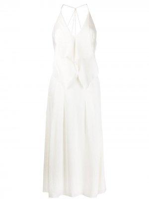 Коктейльное платье с драпировкой Roland Mouret. Цвет: белый