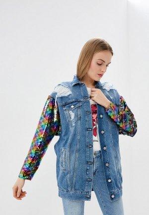Куртка джинсовая Front Street. Цвет: синий