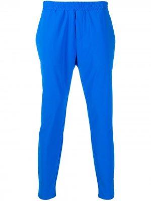 Укороченные брюки с эластичным поясом Hydrogen. Цвет: синий