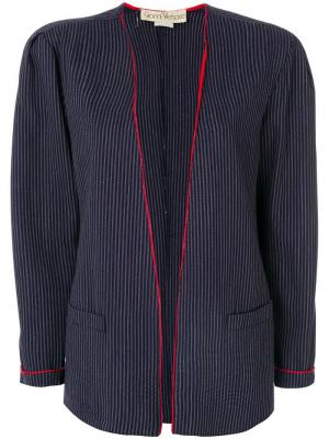 Жакет в полоску Versace Pre-Owned. Цвет: синий