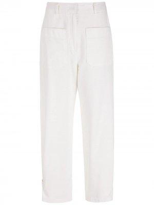 Брюки прямого кроя с карманами Nk. Цвет: белый