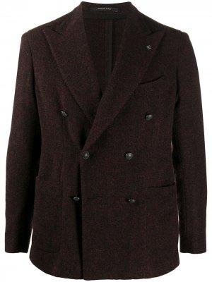 Двубортный пиджак Darrel Tagliatore. Цвет: красный
