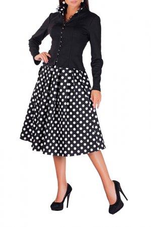 Комплект с юбкой MANNON. Цвет: черно-белый