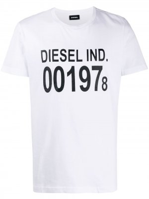 Футболка T-Diego с логотипом Diesel. Цвет: белый