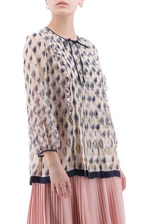 Блуза MAXMARA. Цвет: бежевый