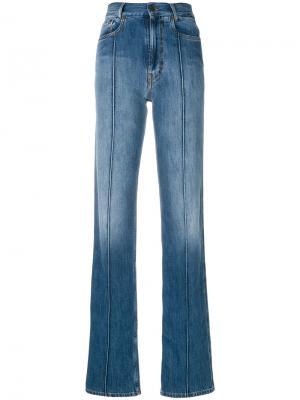 Прямые джинсы со вставками Maison Margiela. Цвет: синий