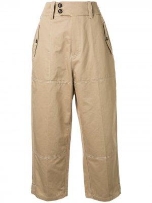 Укороченные брюки Marni. Цвет: коричневый