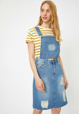 Комбинезон джинсовый Koton. Цвет: синий
