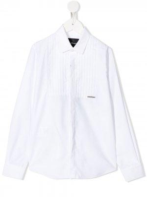 Рубашка с манишкой John Richmond Junior. Цвет: белый