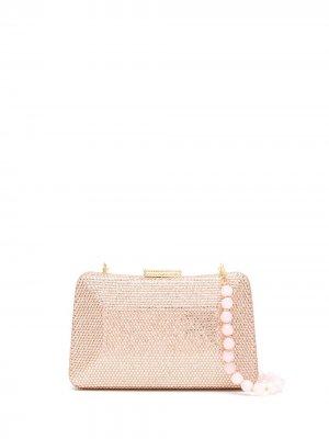 Клатч Mirela с кристаллами SERPUI. Цвет: розовый