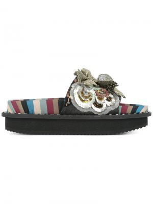 Декорированные сандалии с цветами Antonio Marras. Цвет: разноцветный