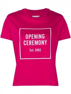 Футболка узкого кроя с логотипом Opening Ceremony. Цвет: розовый
