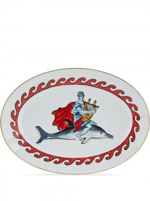 Сервировочное блюдо Il Viaggio di Nettuno (34 см) GINORI 1735. Цвет: белый