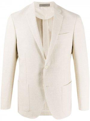 Твиловый пиджак Corneliani. Цвет: нейтральные цвета