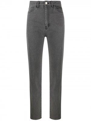 Узкие джинсы с завышенной талией David Koma. Цвет: серый