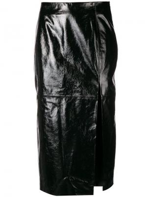 Vinyl pencil skirt Drome. Цвет: черный