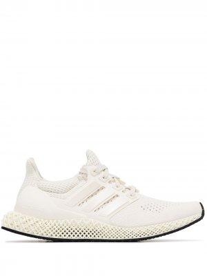 Кроссовки Ultraboost 4D adidas. Цвет: белый