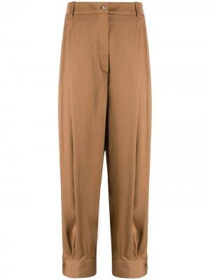Укороченные брюки с завышенной талией Emilio Pucci. Цвет: коричневый