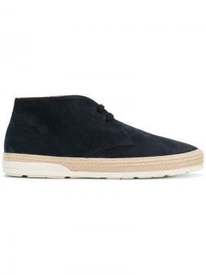 Ботинки-дезерты на плетеной подошве Hogan. Цвет: синий