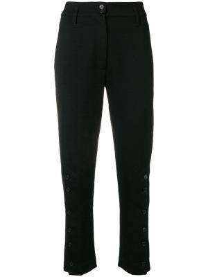 Укороченные брюки с декоративными пуговицами Ann Demeulemeester. Цвет: черный