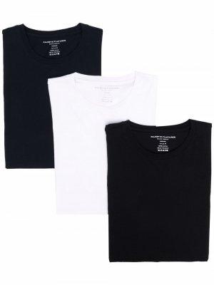 Комплект из трех футболок с круглым вырезом Majestic Filatures. Цвет: черный