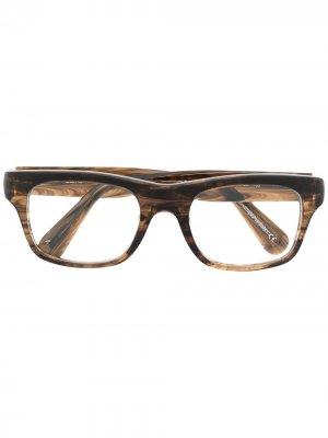 Очки Brisdon в квадратной оправе Oliver Peoples. Цвет: коричневый