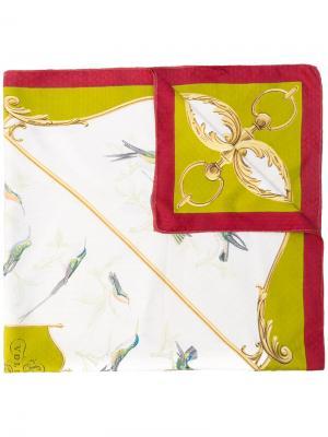 Шарф с принтом птиц Hermès Vintage. Цвет: нейтральные цвета