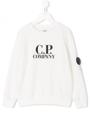 Printed sweatshirt Cp Company Kids. Цвет: белый