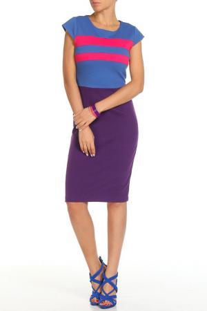 Платье Aftershock. Цвет: голубой, розовый, фиолетовый