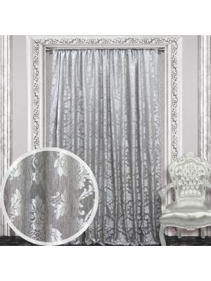 Портьера Amore Mio  200*270 см - 1 шт серебро. Цвет: серый