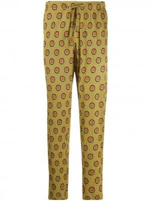 Пижамные брюки с кулиской Viktor & Rolf. Цвет: желтый