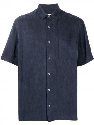 Рубашка Adam с короткими рукавами Nanushka. Цвет: синий